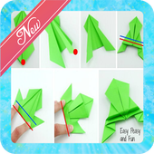 How to make paper frog icon