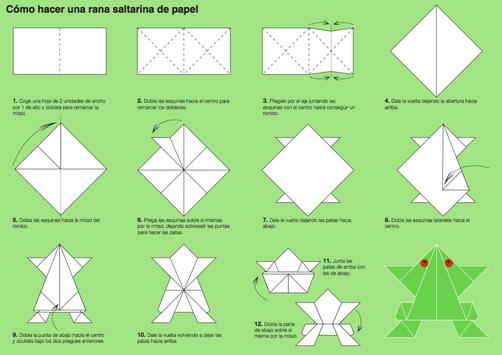 How to make paper frog poster