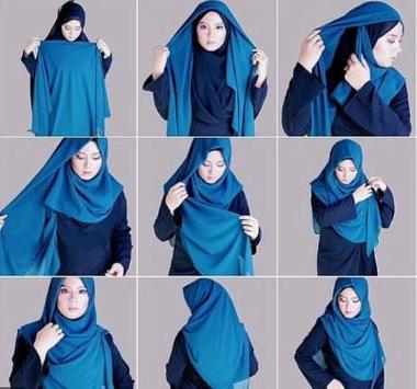 how to wear a hijab idea poster