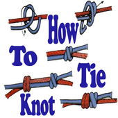 how to tie knot icon