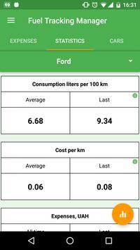 Fuel Tracking Manager apk screenshot