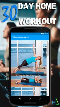 30 Day Home Workout - Fit Challenge Home Workouts screenshot 1