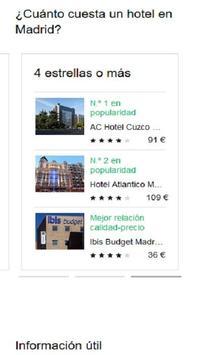 Hoteles en Madrid España screenshot 1