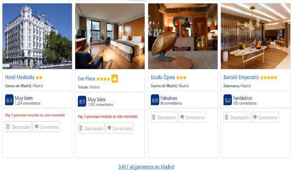 Hoteles en Madrid España screenshot 5