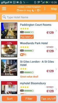 HotelsOne Hotel Reservations apk screenshot