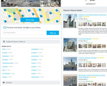 Mecca Hotels Booking apk screenshot