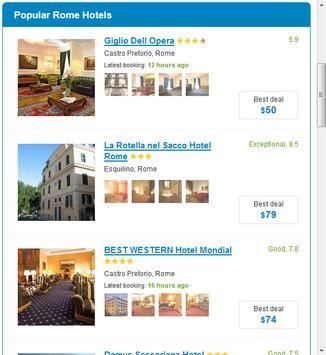 Rome Hotels screenshot 3