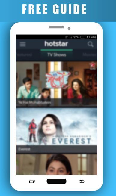 Free Guide for Hotstar Tv poster