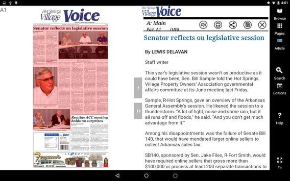 Hot Springs Village Voice eEdition apk screenshot