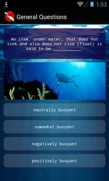 Scuba Dive Quiz poster