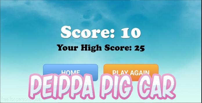 Peippa pig Car apk screenshot