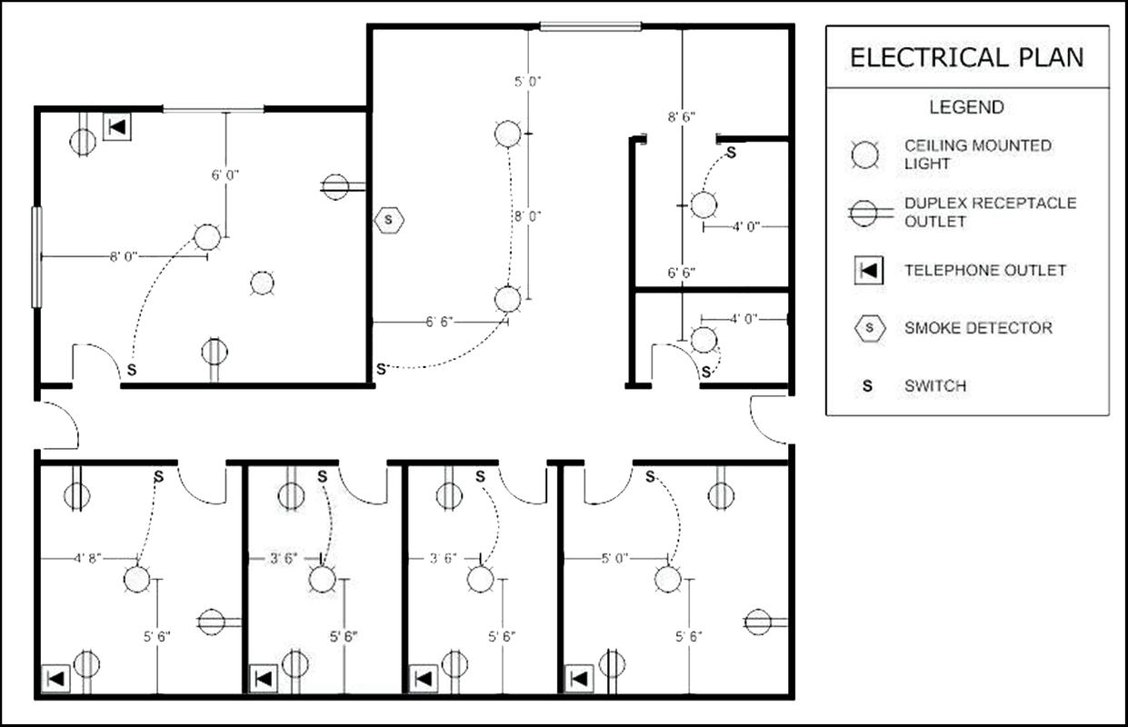 House Electrical Plan poster ...