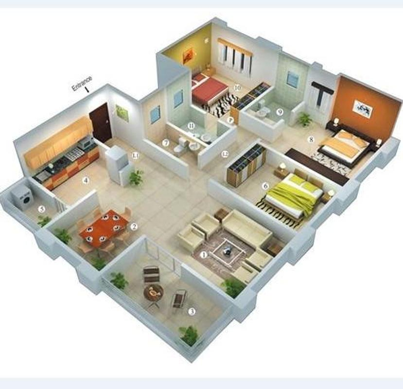 3d house plan for android apk download for Houseplan com
