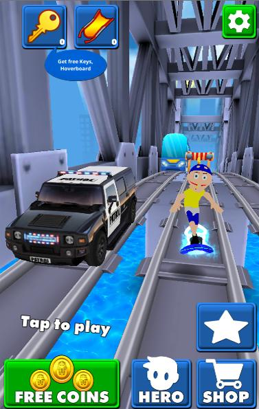 Jeffy Subway Adventure Hoverboard Surf Run 3d For Android