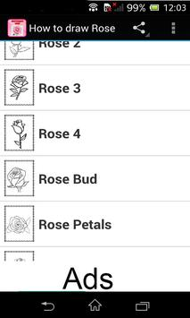 How to draw Rose poster