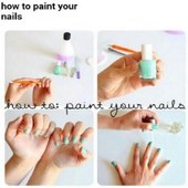 How to paint your nails icon