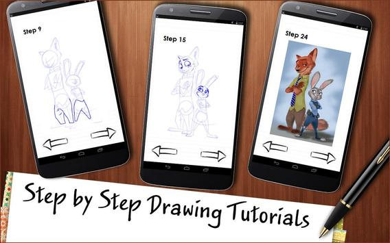 How to draw Zootopia poster