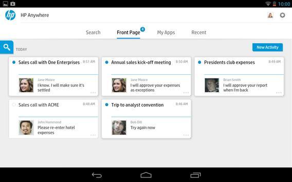 HP Anywhere apk screenshot