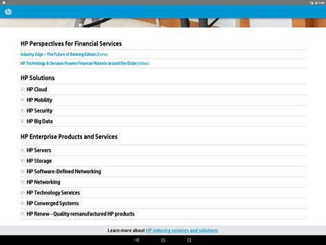 HP Solutions - Financial Serv apk screenshot