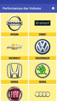 Performance des voitures screenshot 3