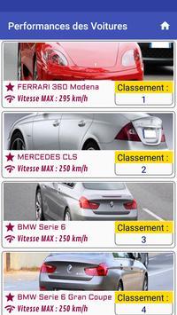 Performance des voitures screenshot 1