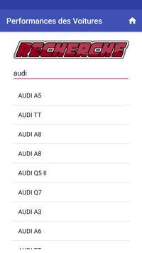 Performance des voitures screenshot 4