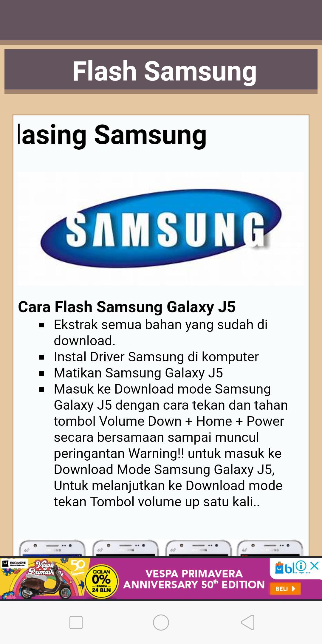 Cara Flash Hp Samsung Für Android Apk Herunterladen