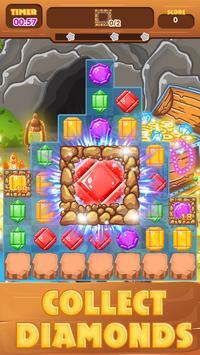 Diamond Treasure Crush - Match 3 Connect screenshot 4