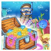 Sea Treasures - Match 3 Connect icon