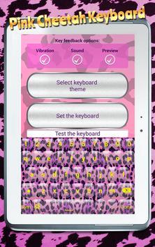 Pink Cheetah Keyboard apk screenshot