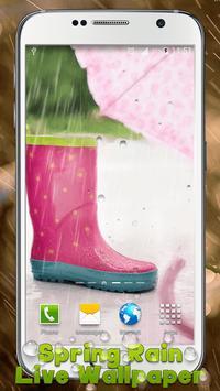 Spring Rain Live Wallpaper poster