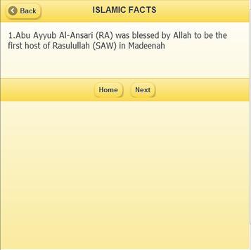 Islamic Facts apk screenshot