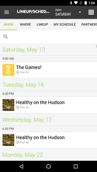 Hudson River Park Events apk screenshot