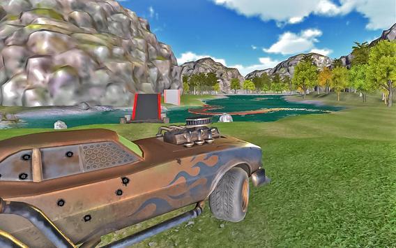 New Year Forest Car Stunts apk screenshot
