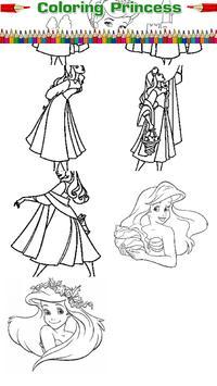 Princess coloring kids paint screenshot 2