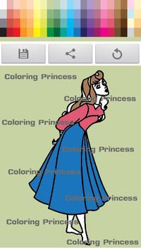 Princess coloring kids paint screenshot 3