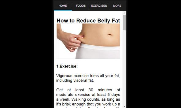 How To Lose Belly Fat poster