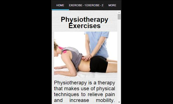 Physiotherapy Exercises apk screenshot
