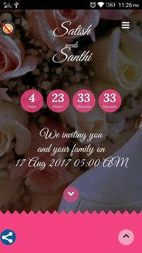 Satish-Santhi Wedding poster