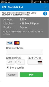 HSL Mobile ticket apk screenshot