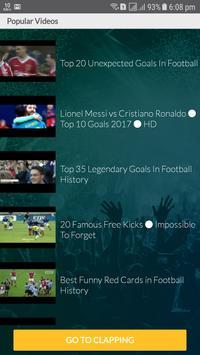 Tap Clapping, Football videos, Tap & Clap screenshot 1