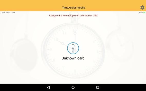 TimeAssist mobile apk screenshot