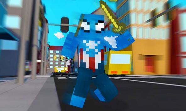 Captain Pixel Spider Rescue apk screenshot