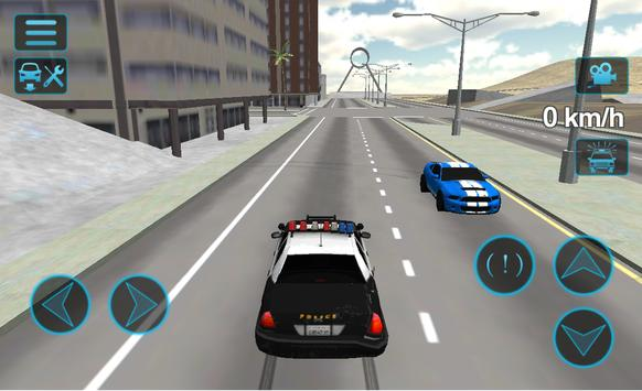 Fast Police Car Driving 3D poster