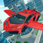 Flying Car 3D icon