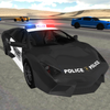 Conducción coches policía icono