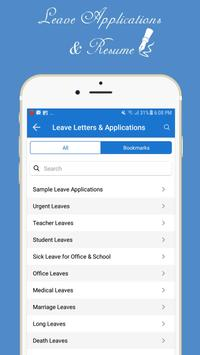 Letter, Application & Resume Guide & Samples for Android