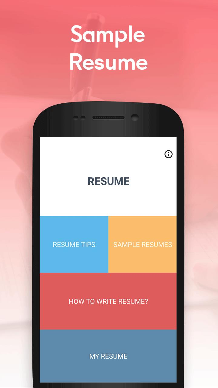 Free Sample Resumes Resume Templates Pdf Format For Android