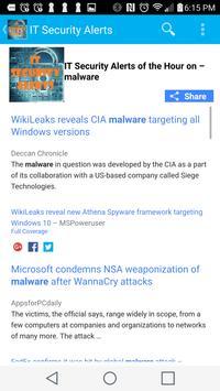 IT Security Alerts- Malware, Ransomware & Phishing apk screenshot