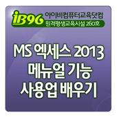 MS 엑세스 2013 메뉴얼 기능 사용법 배우기 강좌 icon